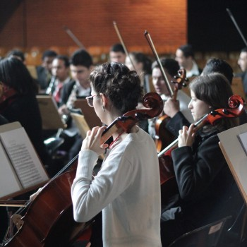 Alunos da Escola Municipal de Música
