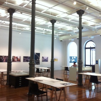 Sala de Exposições, no piso térreo do antigo Conservatório Dramático e Musical de São Paulo.