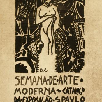 Cartaz da Semana de Arte Moderna de 1922.  Acervo do Centro de Memória do Theatro Municipal.